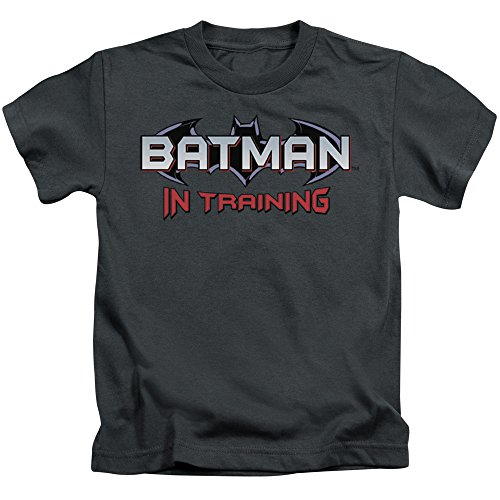 Batman Little Boys in Training Childrens T-Shirt 6 Charcoal ()