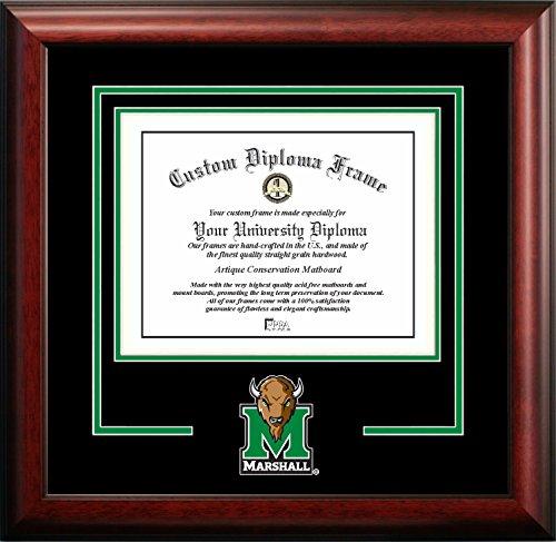 - Campus Images NCAA Marshall Thundering Herd Spirit Diploma Frame, 8.5 x 11, Mahogany