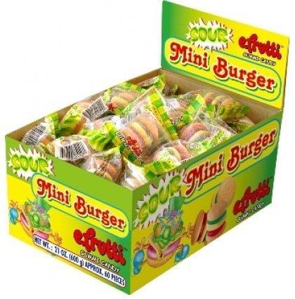 E.Frutti Sour Mini Burgers 1 pack 60 units by e.frutti