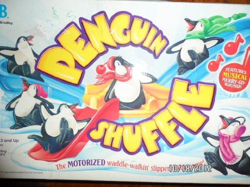 Milton Bradley Penguin Shuffle The Motorized Waddle-Walkin' Slippery Slide Game! (1995) ()