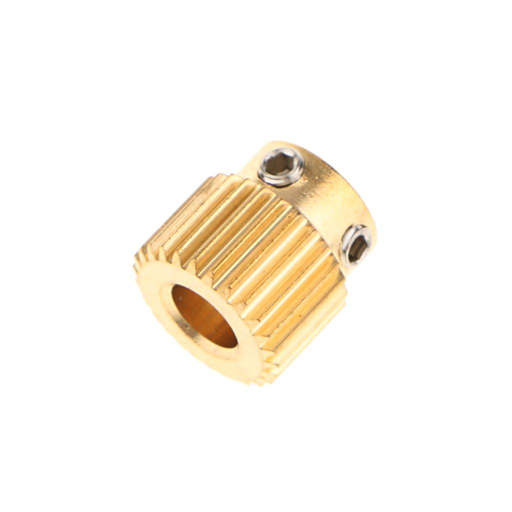Extruder 40-Zähne Wheel Hobbed Zahnrad Drive Gear 5mm Bore für 3D-Printer
