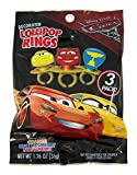 Disney Pixar Cars 3 Lightning McQueen Cruz and Piston Cup Lollipop Rings, 3