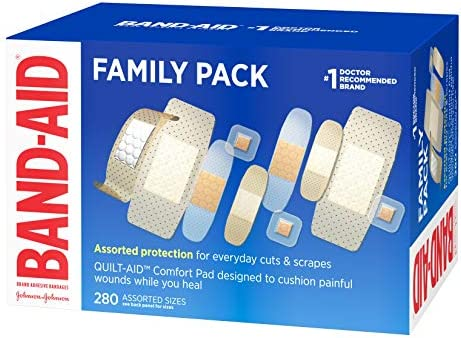 51XmHkAy0rL. AC - Band-Aid Brand Adhesive Bandage Family Variety Pack, Sheer And Clear Bandages, Assorted Sizes, 280 Ct