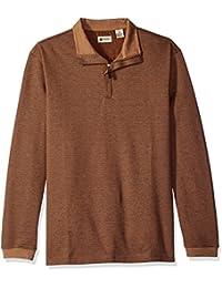 Haggar Men's Houndstooth Knit Quarter Zip Sweater