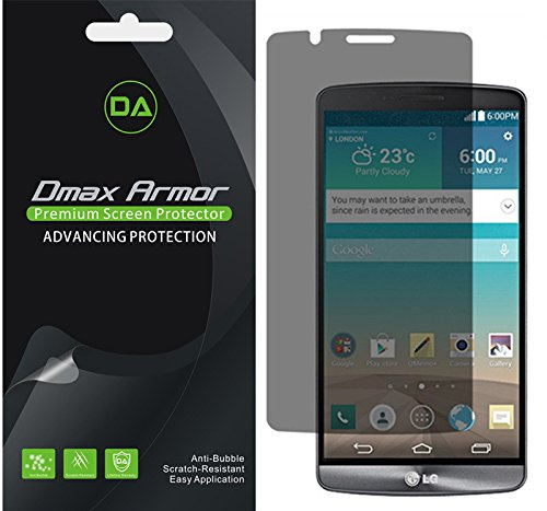 [2-Pack] Dmax Armor for LG G3 Privacy Anti-Spy Screen Protector Shield - Lifetime Replacement