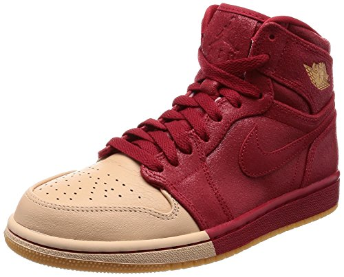 Gym Jordan Multicolour Retro Red Gold Basketball Premium Hi Metallic 1 Nike Women's 607 Shoe 4gwq4Zz