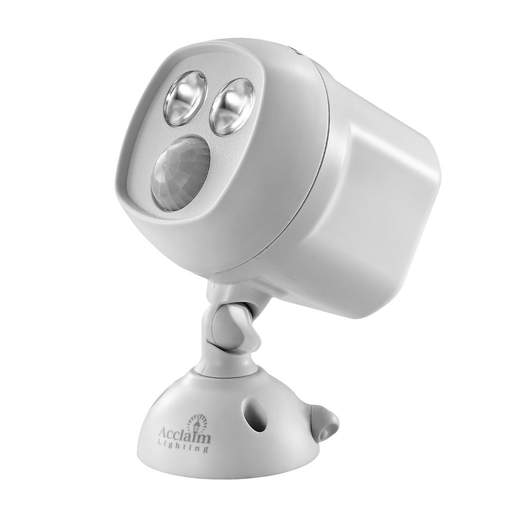 Acclaim Motion Activated Mega Bright LED Battery Spotlight, Grey
