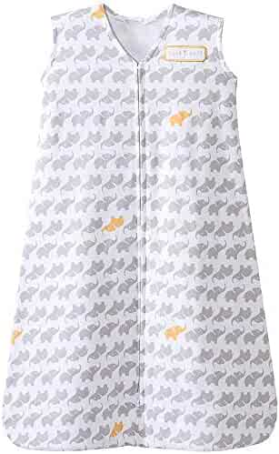 Halo Sleepsack Cotton Wearable Blanket, Grey Elephant Graphics, Large …