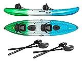 Vibe Kayaks Skipjack 120T Tandem Kayak Package (Sea Breeze 2 Deluxe Seats)