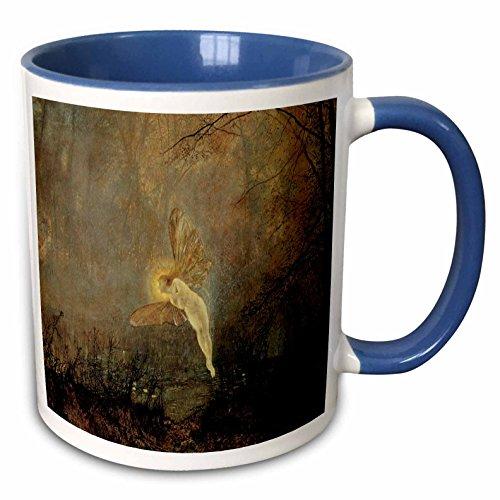 3dRose BLN Victorian Era Fantasy Fine Art Collection - Iris by John Atkinson Grimshaw - 15oz Two-Tone Blue Mug (mug_127260_11)
