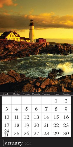 Lighthouses 2010 Magnetic Calendar by Time Factory Publishing