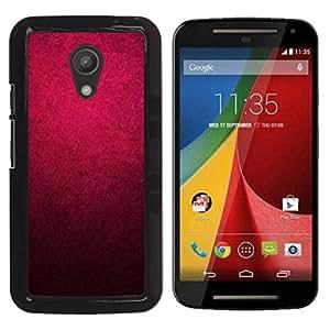 TopCaseStore / la caja del caucho duro de la cubierta de protección de la piel - Black Color Wallpaper - Motorola MOTO G 2ND GEN II