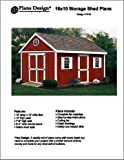gable roof design 16' x 10'Gable Roof Style Garden Storage Shed Project Plans, Design #21610