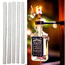"""12 Pack - 1/2"""" by 10 Inch Long Fiberglass Tiki Torch Wicks - Replacement Wicks Perfect for Wine Bottle Torches"""