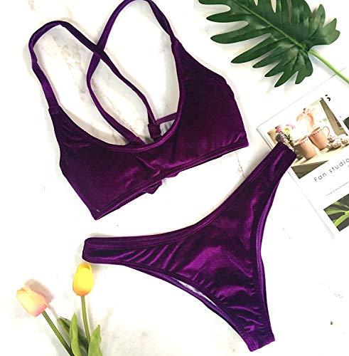 New Bikini Dimensione colore The Velvet Bandage M Qiusa Violet p65w8xIxq