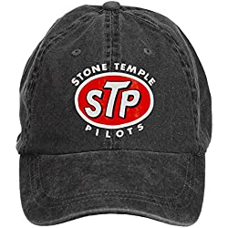 LongDaCo STP Stone Temple Pilots Classic Baseball Cap with Adjustable Hat Men Black