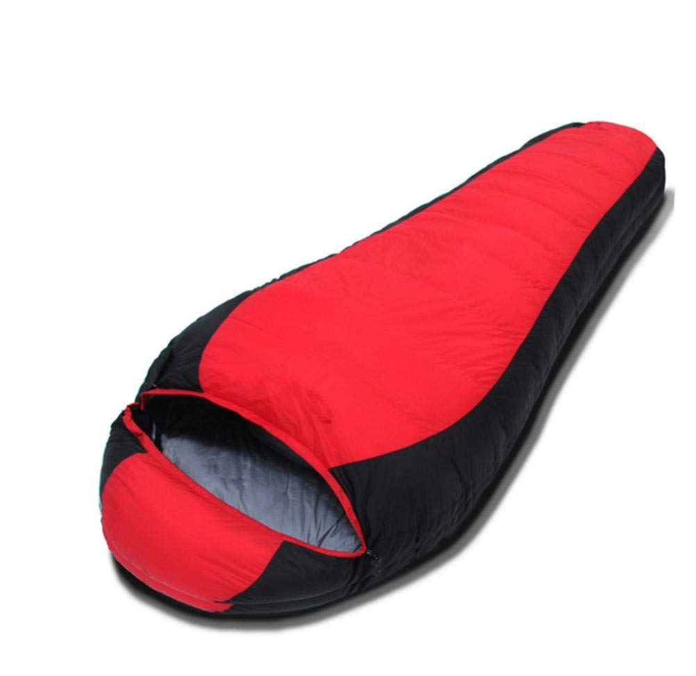 Red 190+257855cm Unisex Outdoor Bag Outdoor Camping Equipment Envelope Sleeping Bag Windproof Warmth Convenient Comfortable Ultralight Traveling Hiking Camping Sleeping Bag