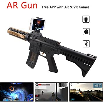 Amazon.com: AR Game Gun Augmented Reality VR Gun for Video Game with Bluetooth Connecting IOS, Android Smart Phone: Toys & Games