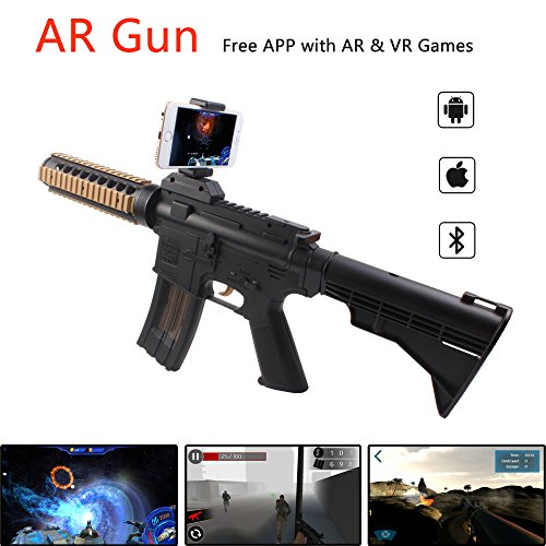 AR Game Gun Augmented Reality VR Gun for Video Game with Bluetooth Connecting IOS, Android Smart - Game Pistols Video