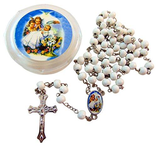 (New Baby Baptism Rosary & Case Bulk Set, Pack of 10)