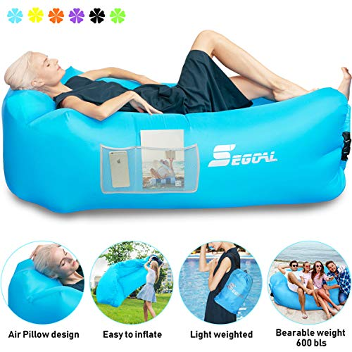Inflatable Lounger Air Sofa Pouch Inflatable Couch Air Chair Hammock