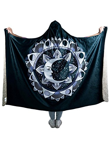 Moon Beams Premium Sherpa Hooded Blanket - Electro Threads by Electro Threads (Image #8)