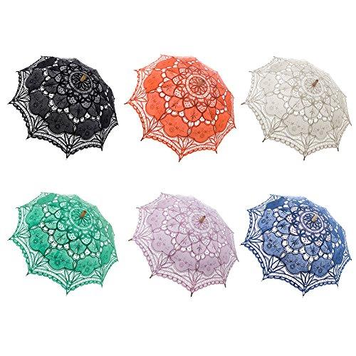 TopTie Lace Umbrella Wedding Parasol Bridal Shower Decoration Photograph Costume-Purple2 by TopTie (Image #1)