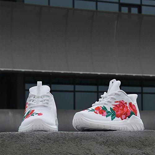 Lace und Weiß Schuhe Faule Damen Herren Dämpfung 47 Sportschuhe Schwarz up Mesh Spray Gewebe Sportschuhe Schuhe Schuhe soulsfeng Schuhe Atmungsaktives tqT0wfIq