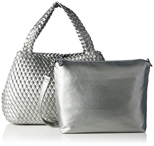 Buffalo Damen Bag 16bwg-05 Leather Pu Schultertasche, 14x29x39 cm Silber (Silver)