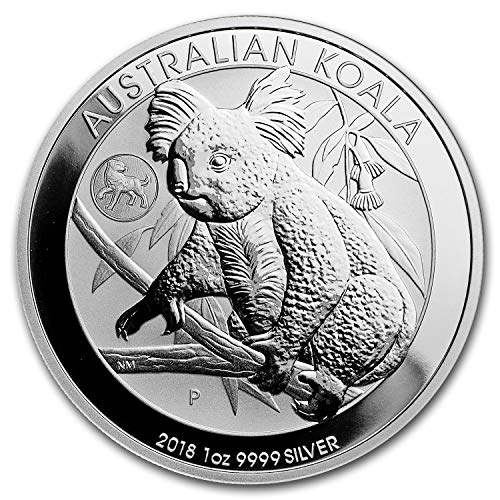 2018 AU Australia 1 oz Silver Koala BU (Dog Privy) 1 OZ Brilliant ()