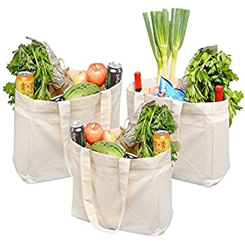 simple ecology organic cotton deluxe reusable grocery bag with bottle sleeves. Black Bedroom Furniture Sets. Home Design Ideas