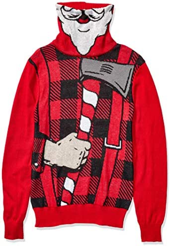 Hybrid Apparel Men`s Ugly Christmas Sweater Turtleneck