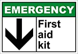 First Aid Kit Emergency OSHA / ANSI LABEL DECAL STICKER Sticks to Any Surface 10x7