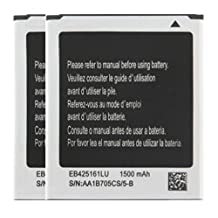 Cellstarr, New 2X 1500mAh Rechargeable Lithium-ion Batteries EB425161LU for Samsung Galaxy Exhibit T599, Ace 2 GT-i8160, Ace 2X S7560M , Duos S7562