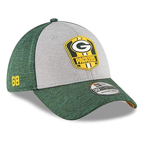 New Era 2018 3930 NFL Green Bay Packers Sideline Away Hat Cap Flex Fit (L/XL)
