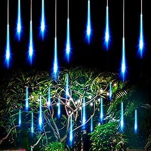 Allnice Meteor Shower Lights Falling Rain Lights Christmas Lights 50cm 10 Tube 360 LEDs Fairy String Lights for…