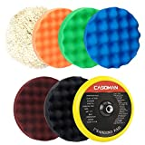 "CASOMAN 7-Inch Buffing and Polishing Pad Kit, 7 Pieces 7"" Polishing Sponge, Waxing Buffing Pad Kit"