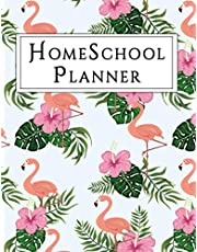 Homeschool Planner: Daily Study Planner for Kids, School Planner for Elementary Kids, tropical flamingo lovers gifts, includes chores,goals, plan & gratitude journal.
