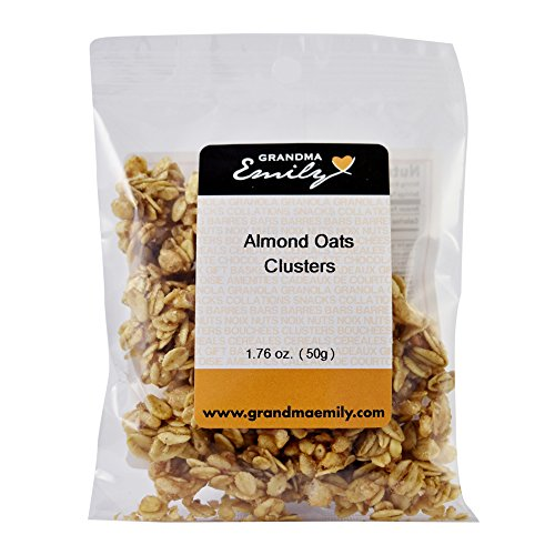 Almond Oats Clusters by Grandma Emily. Almond & Oats: Nutritious, Wholesome, Ready To Eat, Hearty Snack Packs 1.76 oz