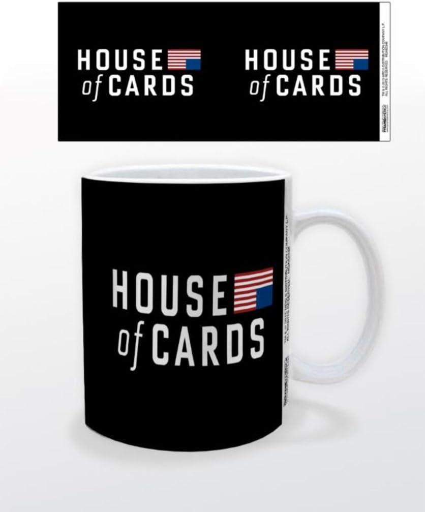 Casa de tarjetas Logo Political Drama televisión TV serie Netflix Kevin Spacey taza de café: Amazon.es: Hogar