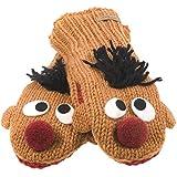 Sesame Street - Unisex-adult Sesame Street - Ernie Head Knit Mittens Orange