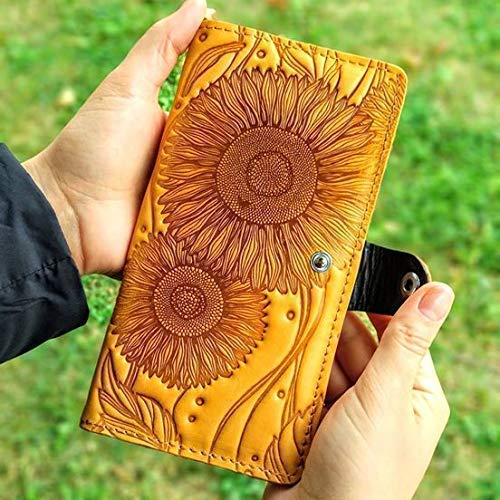 eafb8c14a3cb Amazon.com: Sunflower Wallet Handmade Wallet Woman Wallet Full Grain ...
