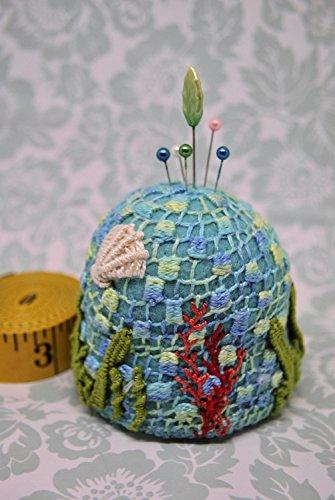 (Mermaid's Pincushion Large Bottlecap Pincushion free usa ship)