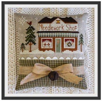 Hometown Holiday - Needlework Shop Cross Stitch Chart and Free Embellishment