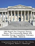 Crs Report for Congress, Robert L. Bamberger, 129302063X