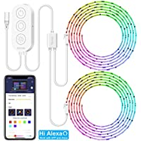 MINGER DreamColor WiFi Wireless 32.8FT LED Strip Lights Work with Amazon Alexa, Echo, Android iOS (Not Support 5G WiFi)