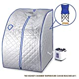 Silver portable 2l home steam sauna spa full body slimming loss weight detox therapy