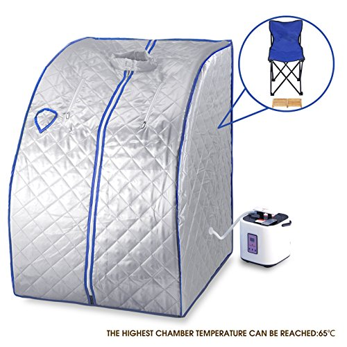 Silver portable 2l home steam sauna spa full body slimming loss weight detox - Blog Our Story