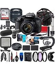$889 » Canon EOS 800D (Rebel T7i) DSLR Camera with 18-55mm STM Lens Photo-Video Creator Bundle + Premium Bundle Including 64GB Memory, Microphone, LED Light, Stabilization Grip, Software Package, Bag & More