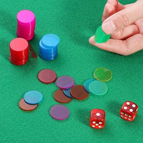 [スポンサー プロダクト]TINKSKY ポーカーチップ カジノチップ トランプ チップ カジノゲーム 300枚セット 6色各50枚(赤、黄、青、緑、紫、オレンジ)
